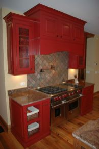 Amazing black and red kitchen decor 11