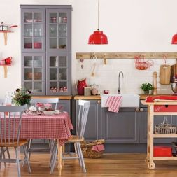 Amazing black and red kitchen decor 16