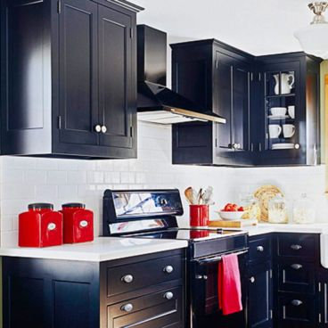 Amazing black and red kitchen decor 21