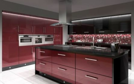Amazing black and red kitchen decor 23