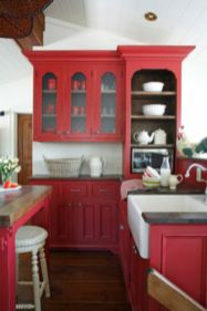 Amazing black and red kitchen decor 24