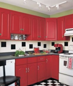 Amazing black and red kitchen decor 26