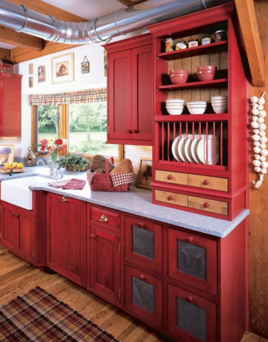 Amazing black and red kitchen decor 32