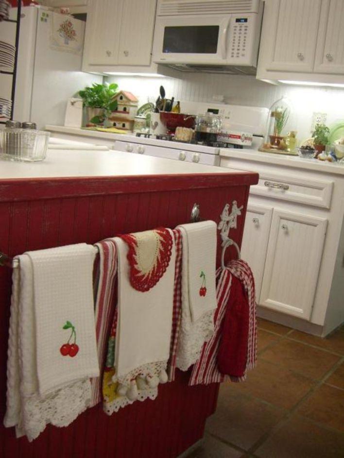 Kitchen:Wooden Kitchen Cabinet Red Vintage Wooden Floor ...