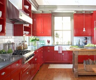 Amazing black and red kitchen decor 43