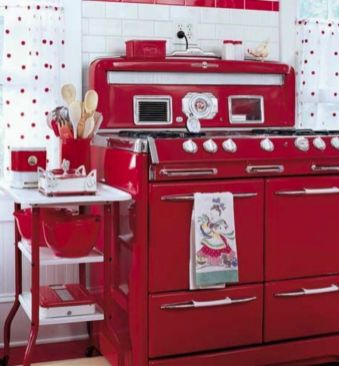 Amazing black and red kitchen decor 46