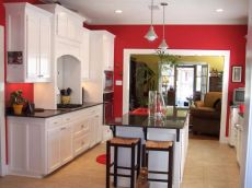 Amazing black and red kitchen decor 62