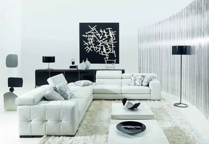 Amazing black and white furniture ideas 15