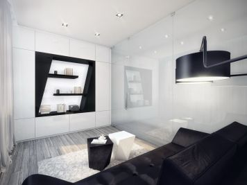 Amazing black and white furniture ideas 26