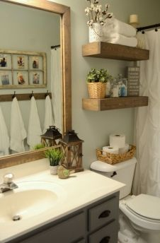Amazing guest bathroom decorating ideas 14
