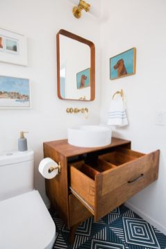 Amazing guest bathroom decorating ideas 30
