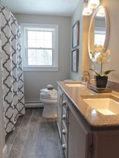 Amazing guest bathroom decorating ideas 37