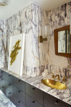 Amazing guest bathroom decorating ideas 42