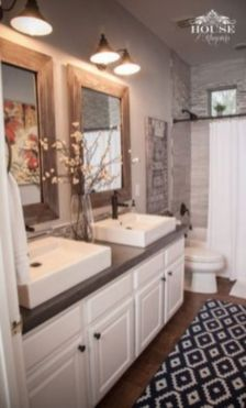Amazing guest bathroom decorating ideas 44