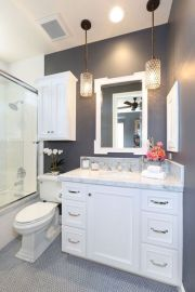 Amazing guest bathroom decorating ideas 47