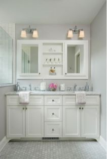 Bathroom vanity ideas with makeup station 10