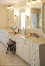 Bathroom vanity ideas with makeup station 18