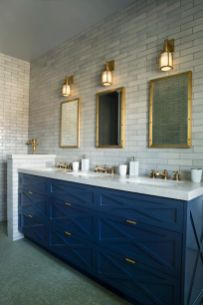 Bathroom vanity ideas with makeup station 20