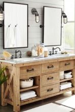 Bathroom vanity ideas with makeup station 41