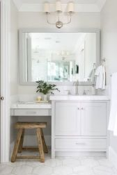 Bathroom vanity ideas with makeup station 43