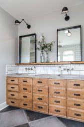 Bathroom vanity ideas with makeup station 50