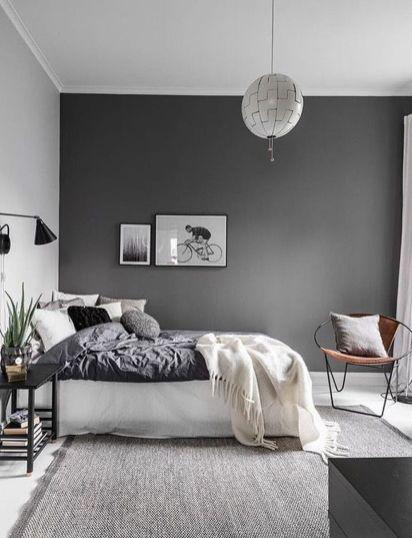 Beautiful bedroom design ideas using grey carpet 001