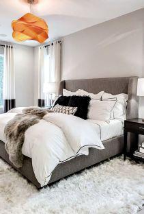 Beautiful bedroom design ideas using grey carpet 009