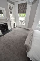 Beautiful bedroom design ideas using grey carpet 012