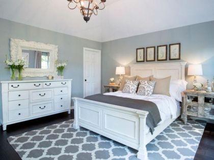 Beautiful bedroom design ideas using grey carpet 016