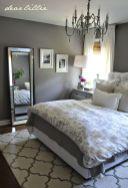 Beautiful bedroom design ideas using grey carpet 029