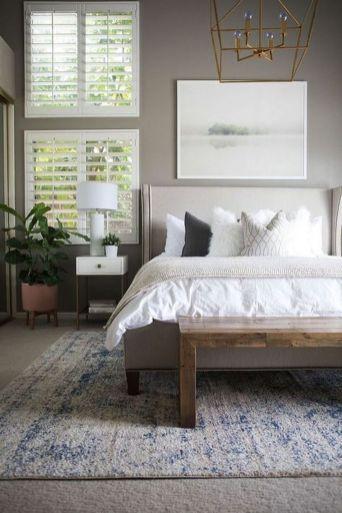 Beautiful bedroom design ideas using grey carpet 040