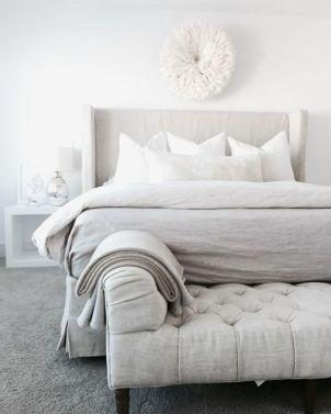 Beautiful bedroom design ideas using grey carpet 065