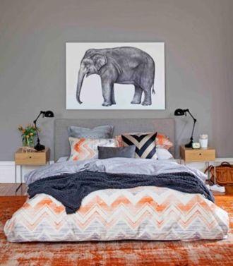 Beautiful bedroom design ideas using grey carpet 066