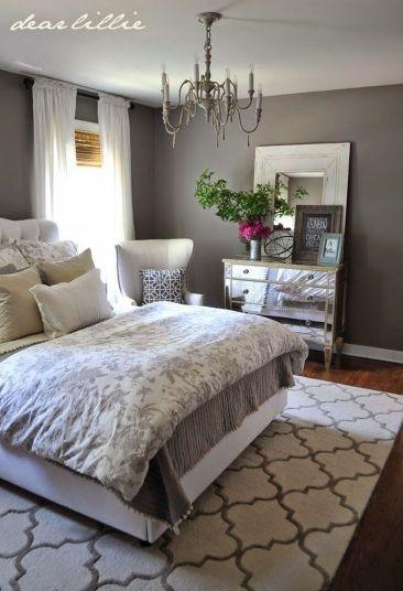 Beautiful bedroom design ideas using grey carpet 092