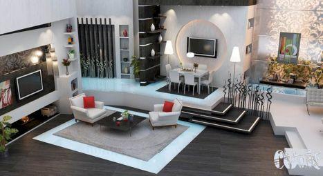Beautiful grey living room decor ideas 34