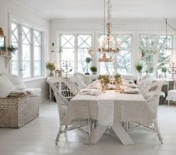 Beautiful shabby chic dining room decor ideas 01