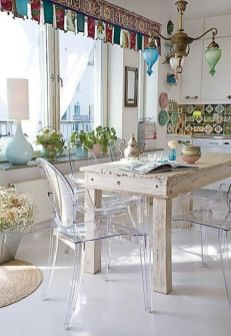 Beautiful shabby chic dining room decor ideas 07