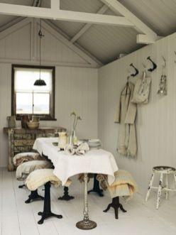 Beautiful shabby chic dining room decor ideas 12