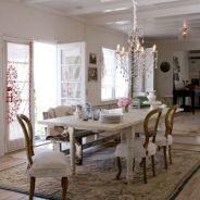 Beautiful shabby chic dining room decor ideas 17