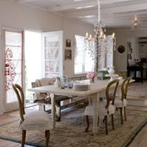 Beautiful shabby chic dining room decor ideas 17