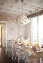 Beautiful shabby chic dining room decor ideas 22