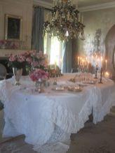 Beautiful shabby chic dining room decor ideas 23