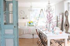 Beautiful shabby chic dining room decor ideas 26