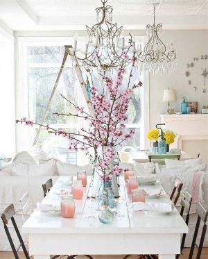 Beautiful shabby chic dining room decor ideas 36