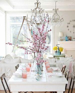 Beautiful shabby chic dining room decor ideas 36