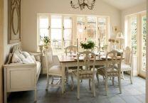 Beautiful shabby chic dining room decor ideas 37