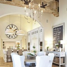 Beautiful shabby chic dining room decor ideas 39