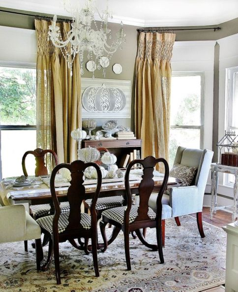 Beautiful shabby chic dining room decor ideas 40