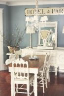Beautiful shabby chic dining room decor ideas 45