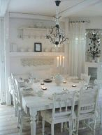 Beautiful shabby chic dining room decor ideas 46